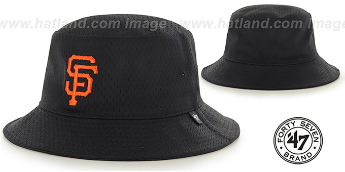 SF Giants 'BACKBOARD JERSEY BUCKET' Black Hat by Twins 47 Brand : pictured without stickers that these products are shipped with