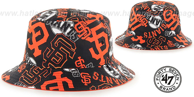 SF Giants 'BRAVADO BUCKET' Hat by Twins 47 Brand : pictured without stickers that these products are shipped with