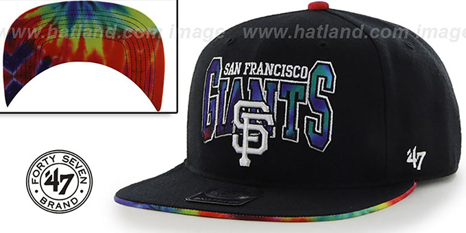 2bf63bf5d SF Giants  CANNED-HEAT SNAPBACK  Black Hat by Twins 47 Brand