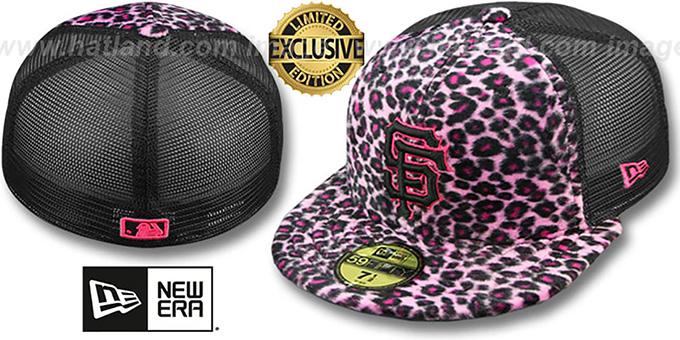 127dad94521 San Francisco SF Giants CHEETAH ANIMAL-FUR MESH-BACK Fitted Hat