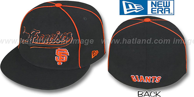 SF Giants 'CITY-FLAWLESS' Black Fitted Hat by New Era : pictured without stickers that these products are shipped with