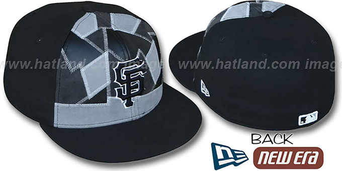 SF Giants 'CUT N PASTE' Fitted Hat by New Era : pictured without stickers that these products are shipped with