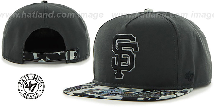 SF Giants 'DRYTOP STRAPBACK' Grey Hat by Twins 47 Brand : pictured without stickers that these products are shipped with