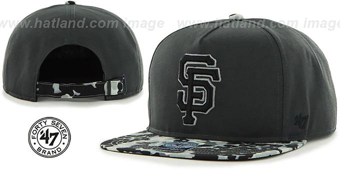 83fef252d94 SF Giants  DRYTOP STRAPBACK  Grey Hat by Twins ...