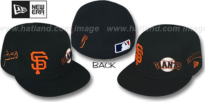 SF Giants 'EVOLUTION' Fitted Hat by New Era - black : pictured without stickers that these products are shipped with