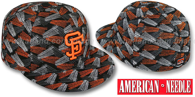 SF Giants 'FLICKER' Black Fitted Hat by American Needle