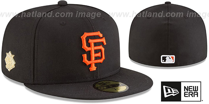 SF Giants 'GILDED TURN' Black Fitted Hat by New Era