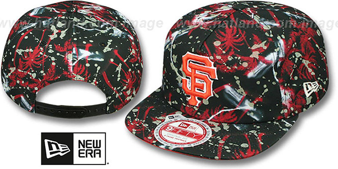 SF Giants 'GLOWSPECK SNAPBACK' Hat by New Era : pictured without stickers that these products are shipped with