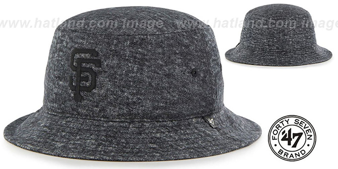 SF Giants 'LEDGEBROOK BUCKET' Black Hat by Twins 47 Brand : pictured without stickers that these products are shipped with