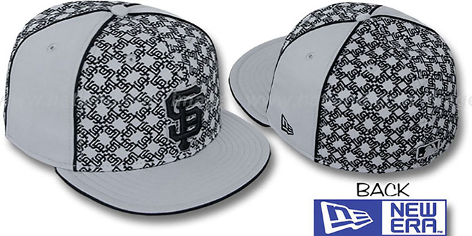 SF Giants 'LOS-LOGOS' Grey-Black Fitted Hat by New Era