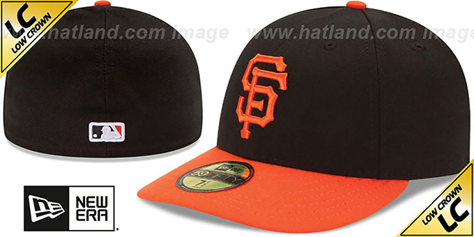SF Giants 'LOW-CROWN' ALTERNATE Fitted Hat by New Era : pictured without stickers that these products are shipped with