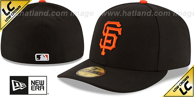 SF Giants 'LOW-CROWN' GAME Fitted Hat by New Era : pictured without stickers that these products are shipped with