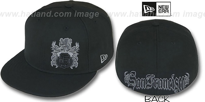 SF Giants 'OLD ENGLISH SOUTHPAW' Black Fitted Hat by New Era