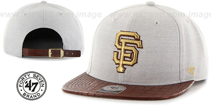 SF Giants 'ORINOCO STRAPBACK' Hat by Twins 47 Brand : pictured without stickers that these products are shipped with