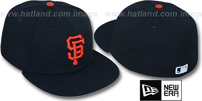 SF Giants 'PERFORMANCE GAME' Hat by New Era : pictured without stickers that these products are shipped with