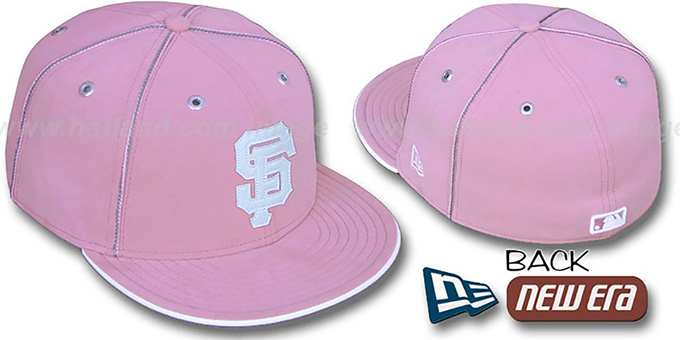 SF Giants 'PINK DaBu' Fitted Hat by New Era : pictured without stickers that these products are shipped with