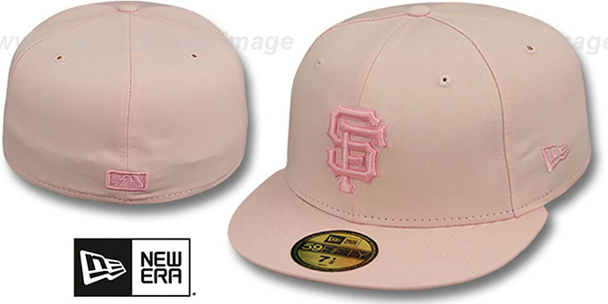 SF Giants 'PINKOUT' Fitted Hat by New Era : pictured without stickers that these products are shipped with