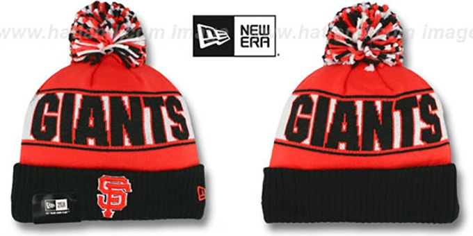 SF Giants 'REP-UR-TEAM' Knit Beanie Hat by New Era : pictured without stickers that these products are shipped with