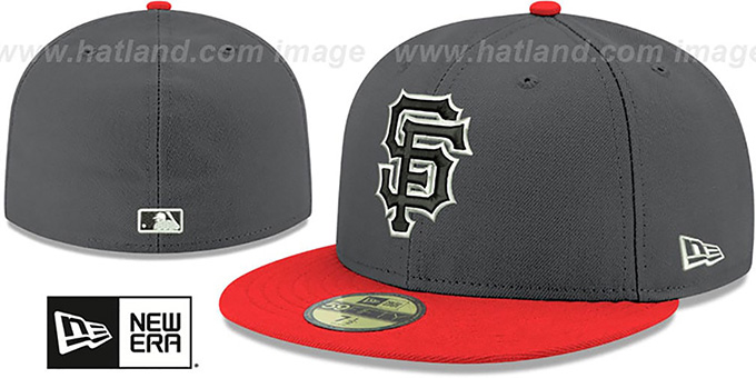 SF Giants 'SHADER MELT-2' Grey-Orange Fitted Hat by New Era : pictured without stickers that these products are shipped with