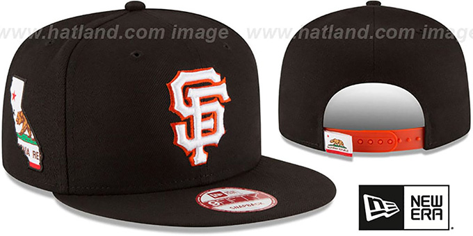 SF Giants 'STATE STARE SNAPBACK' Black Hat by New Era : pictured without stickers that these products are shipped with