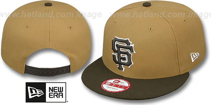 SF Giants 'TEAM-BASIC SNAPBACK' Wheat-Brown Hat by New Era : pictured without stickers that these products are shipped with
