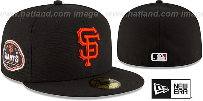 SF Giants 'TEAM-SUPERB' Black Fitted Hat by New Era : pictured without stickers that these products are shipped with