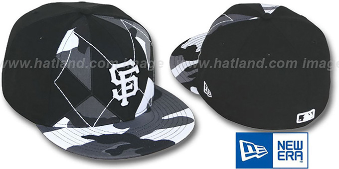 SF Giants 'URBAN CAMO BRADY' Fitted Hat by New Era : pictured without stickers that these products are shipped with