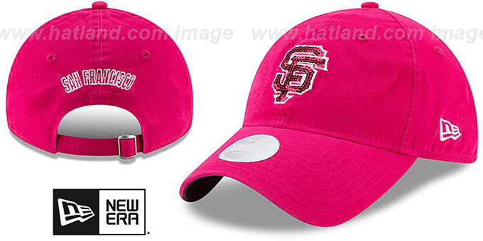 72b579bf97fbc San Francisco SF Giants WOMENS MOTHERS DAY GLIMMER STRAPBACK Pink
