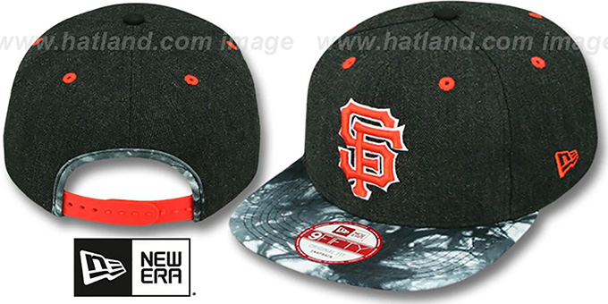 SF Giants 'ZONE-VIZE SNAPBACK' Black Hat by New Era : pictured without stickers that these products are shipped with