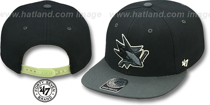 Sharks 'NIGHT-MOVE SNAPBACK' Adjustable Hat by Twins 47 Brand