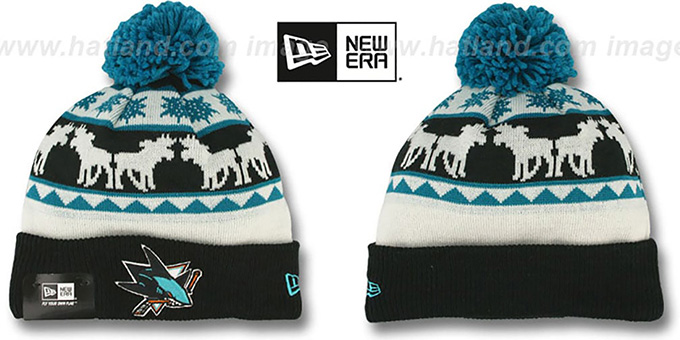 Sharks 'THE-MOOSER' Knit Beanie Hat by New Era