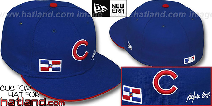 Soriano 'TRIPLE THREAT' Royal Fitted Hat by New Era : pictured without stickers that these products are shipped with