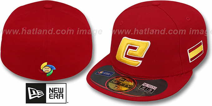 Spain 'PERFORMANCE WBC' Red Hat by New Era : pictured without stickers that these products are shipped with