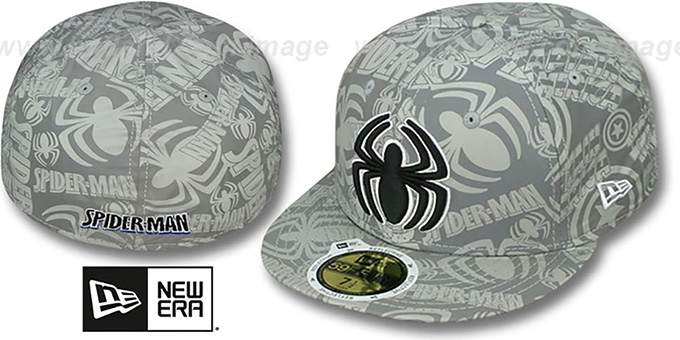 Spiderman 'COMIC REFLECT' Fitted Hat by New Era : pictured without stickers that these products are shipped with