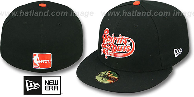 Spirits 'ABA TEAM-BASIC' Black Fitted Hat by New Era : pictured without stickers that these products are shipped with