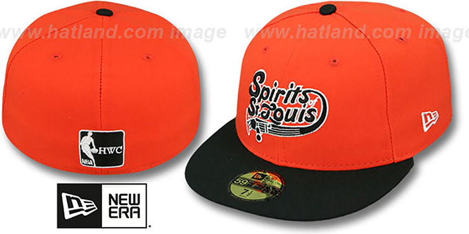 Spirits 'ABA TEAM-BASIC' Orange-Black Fitted Hat by New Era : pictured without stickers that these products are shipped with