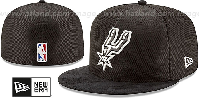 buy popular 1e007 ebf22 Spurs  2017 ONCOURT DRAFT  Black Fitted Hat by ...