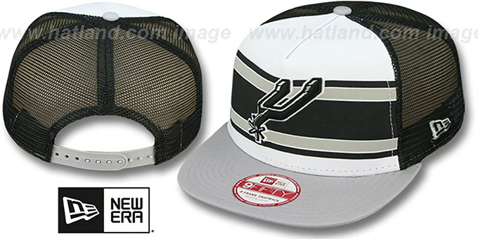Spurs 'BAND-SLAP SNAPBACK' Hat by New Era : pictured without stickers that these products are shipped with