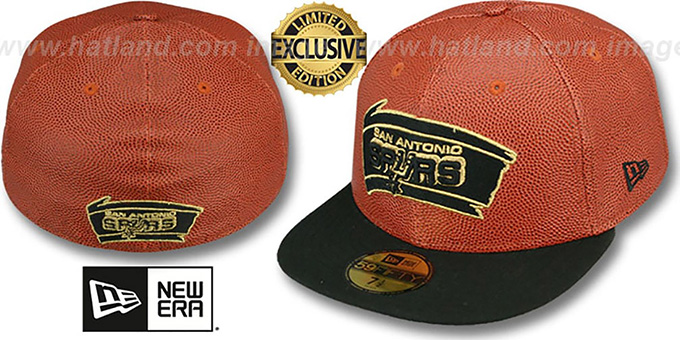 Spurs 'BASKET-BALLIN' Fitted Hat by New Era : pictured without stickers that these products are shipped with