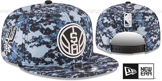 Spurs 'CITY-SERIES SNAPBACK' Camo Hat by New Era : pictured without stickers that these products are shipped with