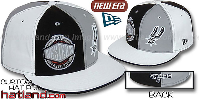 Spurs CONFERENCE 'DOUBLE WHAMMY' Fitted Hat by New Era : pictured without stickers that these products are shipped with