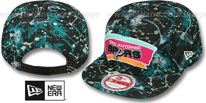 Spurs 'GLOWSPECK SNAPBACK' Hat by New Era : pictured without stickers that these products are shipped with
