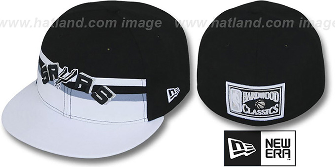 Spurs 'HARDWOOD HORIZON' Fitted Hat by New Era : pictured without stickers that these products are shipped with