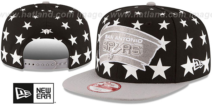 Spurs 'NBA ALL-STARRY SNAPBACK' Hat by New Era : pictured without stickers that these products are shipped with