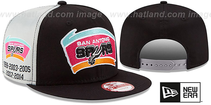 Spurs 'PANEL PRIDE SNAPBACK' Hat by New Era : pictured without stickers that these products are shipped with