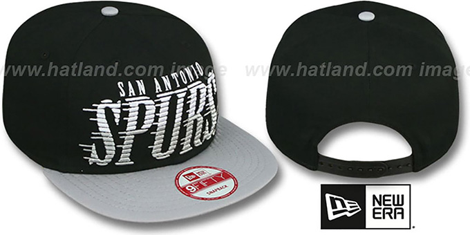 Spurs 'SAILTIP SNAPBACK' Black-Grey Hat by New Era : pictured without stickers that these products are shipped with