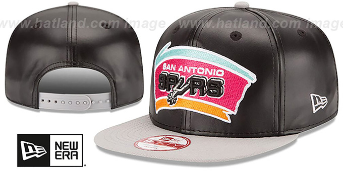 Spurs 'SMOOTHLY STATED SNAPBACK' Black-Grey Hat by New Era : pictured without stickers that these products are shipped with
