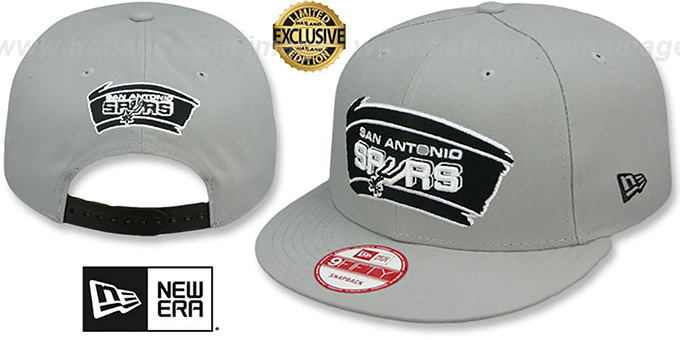 Spurs 'TEAM-BASIC SNAPBACK' Grey-Black Hat by New Era : pictured without stickers that these products are shipped with