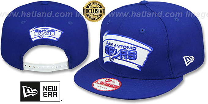 Spurs 'TEAM-BASIC SNAPBACK' Royal-White Hat by New Era : pictured without stickers that these products are shipped with