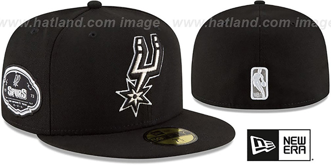 Spurs 'TEAM-SUPERB' Black Fitted Hat by New Era : pictured without stickers that these products are shipped with